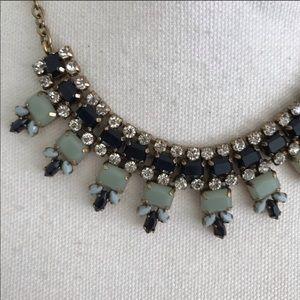 J. Crew Embellished rhinestone blue necklace